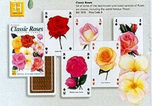 Classic Roses set of 52 playing cards (+ jokers)    (hpc)